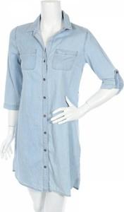 Sukienka Jean Pascale mini koszulowa z długim rękawem