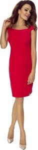 Czerwona sukienka Bergamo bez rękawów ołówkowa midi