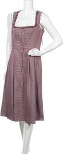 Fioletowa sukienka Wenger midi