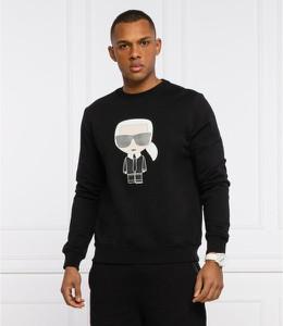 Czarna bluza Karl Lagerfeld z nadrukiem w młodzieżowym stylu z bawełny