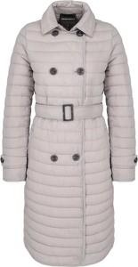 Różowa kurtka Emporio Armani w stylu casual długa