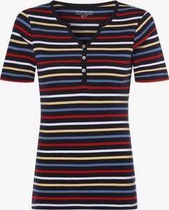 T-shirt brookshire w młodzieżowym stylu z krótkim rękawem