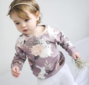 Bluza dziecięca Little Gold King z dzianiny w kwiatki dla dziewczynek