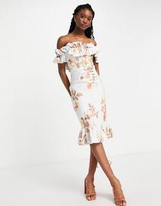 Sukienka Lipsy bodycon midi z krótkim rękawem