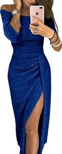 Niebieska sukienka DAFNIS dopasowana
