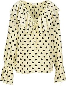 Bluzka SAINT LAURENT z dekoltem w kształcie litery v w stylu casual