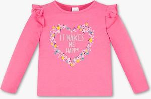 Różowa koszulka dziecięca Palomino z bawełny z długim rękawem