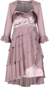 Sukienka Fokus asymetryczna z długim rękawem