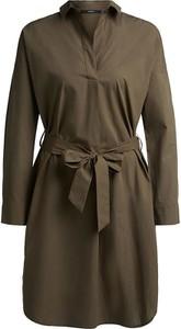 Sukienka Set z kołnierzykiem z bawełny w stylu casual