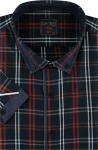 Koszula Laviino z tkaniny z długim rękawem w stylu casual