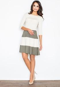 9dfead8c32 Sukienka Figl z długim rękawem midi