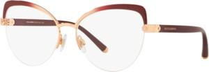 Brązowe okulary damskie Dolce & Gabbana