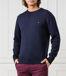 Sweter Tommy Hilfiger z wełny z okrągłym dekoltem