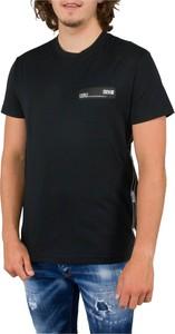 Czarny t-shirt Versace Jeans z bawełny w stylu casual