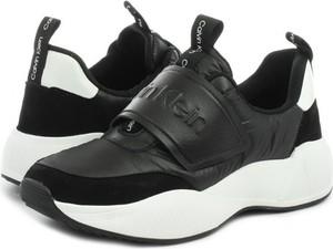 Sneakersy Calvin Klein Black Label na rzepy na platformie
