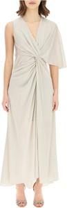Sukienka Lanvin z krótkim rękawem z dekoltem w kształcie litery v