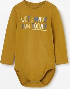 Żółte body niemowlęce Reserved dla chłopców