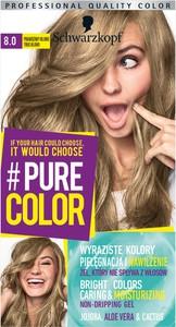 Schwarzkopf Pure Color Farba Do Włosów W Żelu 8.0 Prawdziwy Blond True Blond