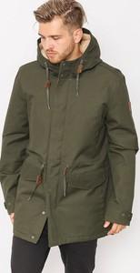 Zielona kurtka Element w stylu casual ze skóry