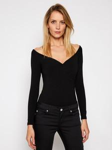 Czarna bluzka Guess z dekoltem w kształcie litery v