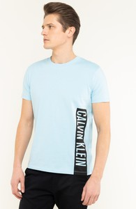 Niebieski t-shirt Calvin Klein z krótkim rękawem
