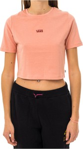 Różowa bluzka Vans z okrągłym dekoltem
