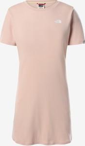 Sukienka The North Face z okrągłym dekoltem mini z krótkim rękawem
