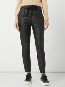 Czarne spodnie Vero Moda ze skóry ekologicznej