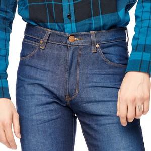 Niebieskie jeansy Wrangler z jeansu w stylu casual