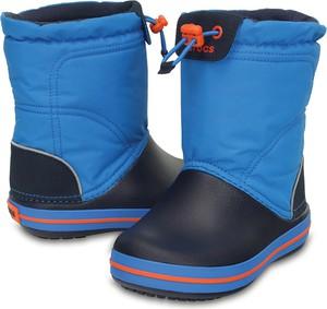 Niebieskie buty dziecięce zimowe crocs