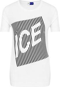 T-shirt Ice Play z bawełny z krótkim rękawem