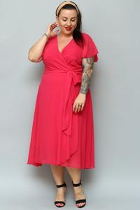 Sukienka KARKO midi z szyfonu