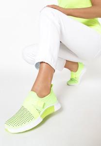 Zielone buty sportowe born2be z płaską podeszwą