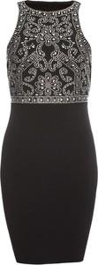 Czarna sukienka bonprix BODYFLIRT boutique mini bez rękawów