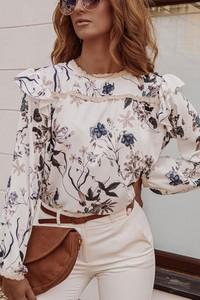 Bluzka Shopaholics Dream w stylu boho z długim rękawem