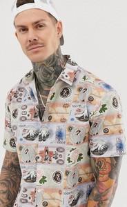 Koszula Asos Design z klasycznym kołnierzykiem z nadrukiem