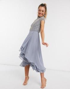 Niebieska sukienka Asos z golfem