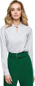 Bluzka Style z dekoltem w kształcie litery v z długim rękawem