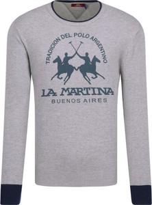 Sweter La Martina z nadrukiem w młodzieżowym stylu