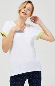 T-shirt Moodo z bawełny z krótkim rękawem