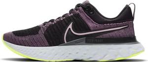 Fioletowe buty sportowe Nike z płaską podeszwą z tkaniny
