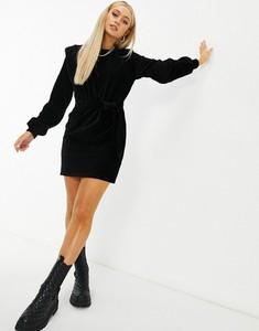 Czarna sukienka Asos ze sztruksu