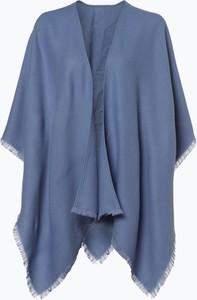 Fraas - Ponczo damskie, niebieski
