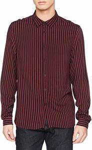 Czerwona koszula amazon.de z długim rękawem