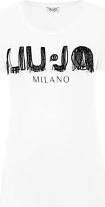 T-shirt Liu-Jo w młodzieżowym stylu z krótkim rękawem