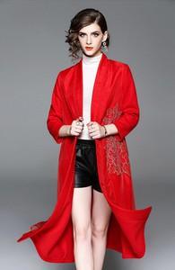 Czerwony płaszcz Zeraco w stylu casual
