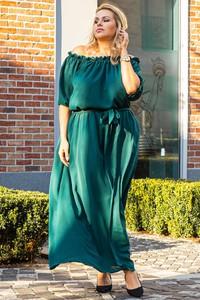Sukienka KARKO hiszpanka z długim rękawem