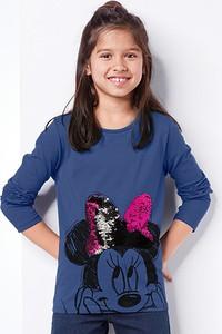 Niebieska koszulka dziecięca Tchibo z długim rękawem