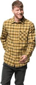 Brązowa koszula Jack Wolfskin w stylu casual z bawełny