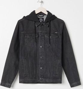 Czarna kurtka Sinsay z jeansu krótka w młodzieżowym stylu